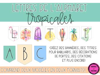 Lettres de l'alphabet (Thème tropical)