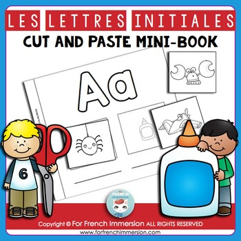 Lettres Initiales Cut and Paste Mini-Book