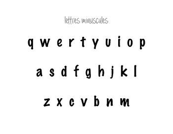 Lettres Minuscules