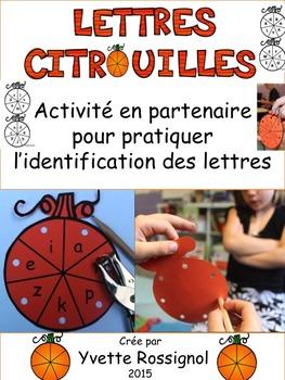 Lettres citrouilles (L'Halloween, L'Alphabet, L'identifica