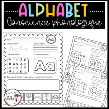 Lettres de l'alphabet A à Z - Tracé, Lecture, Conscience phonologique