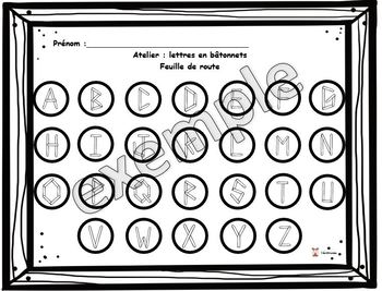 Lettres en bâtonnets