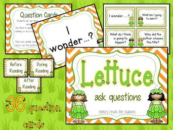 Lettuce Ask Questions-before, during, after