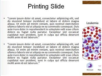 Leukemia Blood Cells PowerPoint Template