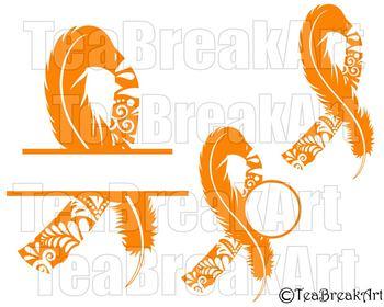 Leukemia Zentangle awareness ribbon feather Digital ClipArt SVG PNG jpg 751C
