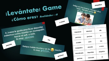 Levantate Game for Realidades 1 1B Vocabulary