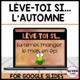 Lève-toi si... L'automne/French Fall Stand Up Sit Down