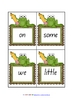 Level 0 - Learn to Read Flash Cards/Word Wall - frog theme - 8 pages