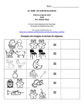Level 1&2 Christmas French Reading Activity