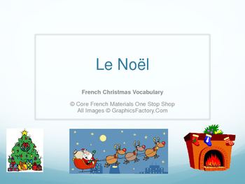 Level 1&2 Christmas French Vocabulary