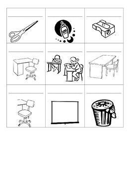 Level 1&2 Classroom Objects Printing Page