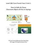 Level 1&2 Core French Year 2 Unit 1 Classroom Unit Bundle