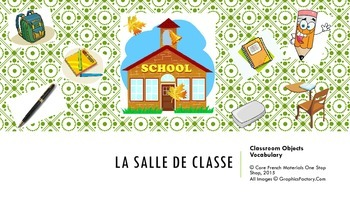 Level 1&2 French Classroom Objects Vocabulary Flashcards