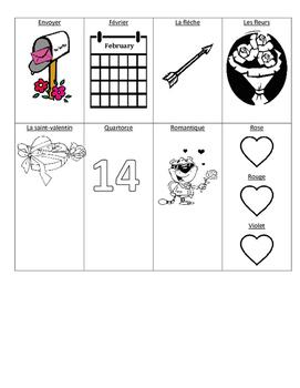 Level 1&2 Valentine's Day French Vocabulary Handout