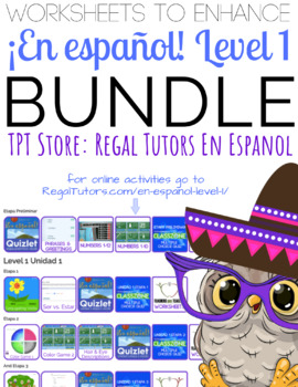 ¡En español! Level 1 Bundle