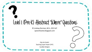 "Level 1 Abstract ""Where"" Questions Set"