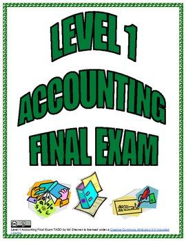 Level 1 Accounting Final Exam TADO