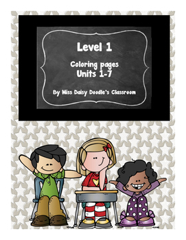 Level 1 Coloring Pages-Units 1-7