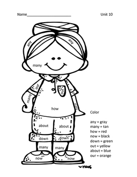 Level 1 Coloring Pages-Units 8-14