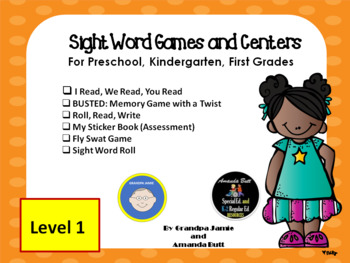 Level 1 Dolch Sight Words for Pre-k; Kindergarten, First; Special Ed., Autism