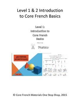 Level 1 and 2 Introduction to Core French Basics Mini Unit Bundle