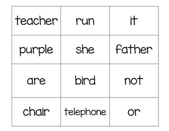 Sight Word Match It/Bingo 1