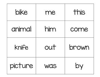 Sight Word Match It/Bingo 1
