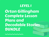 Level 1 Orton Gillingham new info lesson plan words, sentences & passages bundle
