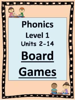 Level 1 Phonics Board Games BUNDLE