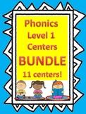 Level 1 Unit 2-13 Phonics: Centers, activities, and games BUNDLE