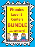 Level 1 Unit 2-13 Phonics: Centers, activities, and games BUNDLE