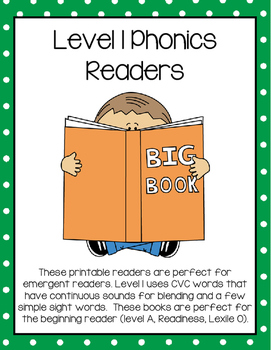 CVC Phonics Readers and Comprehension Worksheets (Printable Books)