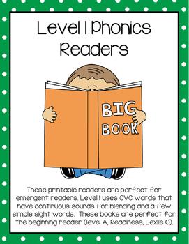 CVC Phonics Readers and Comprehension Worksheets (Printabl