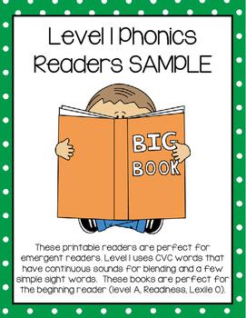 Level 1 Phonics Readers SAMPLE