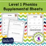 Level 1 Phonics Supplemental Worksheets