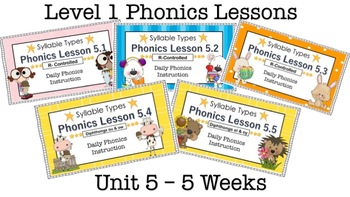 Level 1 Phonics - Unit 5