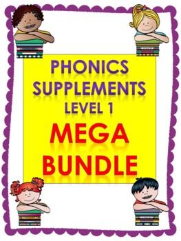 Level 1 Units 2-14 Phonics supplements, Centers, and Activities MEGA BUNDLE