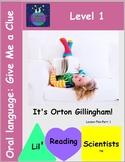 Oral Language - Story Telling & Expressive Language