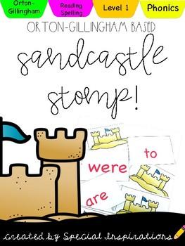 Level 1 Sandcastle Stomp Summer Reading Game! Orton-Gillingham