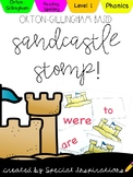 Level 1 Sandcastle Stomp Summer Reading Game! Orton-Gillingham