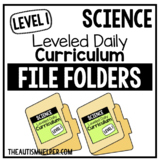 Level 1 Science Leveled Daily Curriculum FILE FOLDER ACTIVITIES