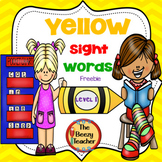 Level 1 Sight Words - Yellow Crayon