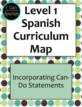 Level 1 World Language Curriculum Map