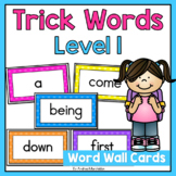 Level 1 Trick Word Cards