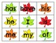Level 1 Trick Word Cards Autumn