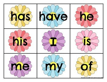 Level 1 Trick Word Cards Spring