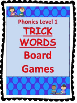 Level 1 Trick Words Board Games