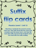 Level 1 Unit 13 Suffix Flip Cards