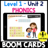 Level 1 Unit 2 BOOM CARDS CVC Words Distance Learning