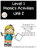 Phonics Level 1 Unit 2